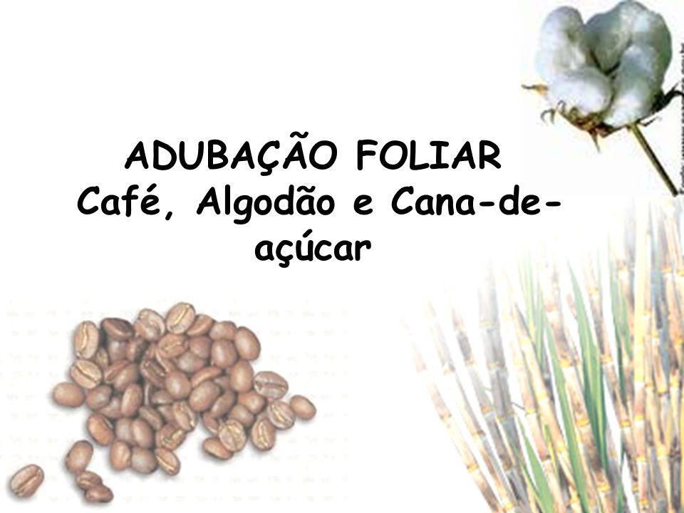 ADUBAÇÃO FOLIAR Café, Algodão e Cana-de-açúcar