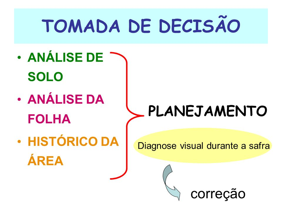 Diagnose visual durante a safra