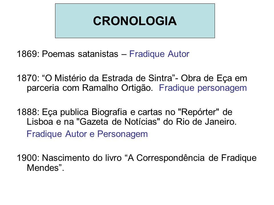 CRONOLOGIA 1869: Poemas satanistas – Fradique Autor