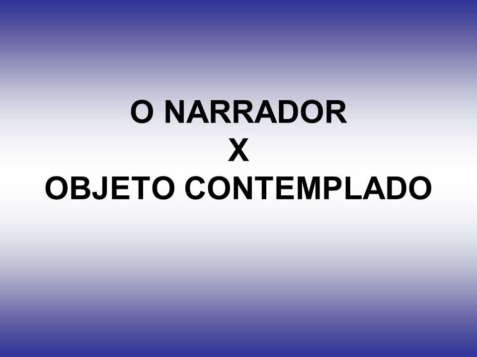 O NARRADOR X OBJETO CONTEMPLADO