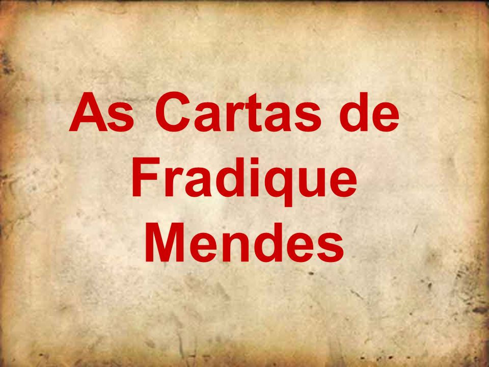As Cartas de Fradique Mendes