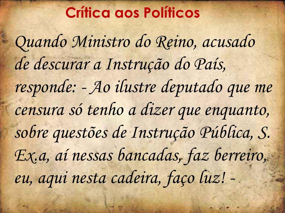 Crítica aos Políticos