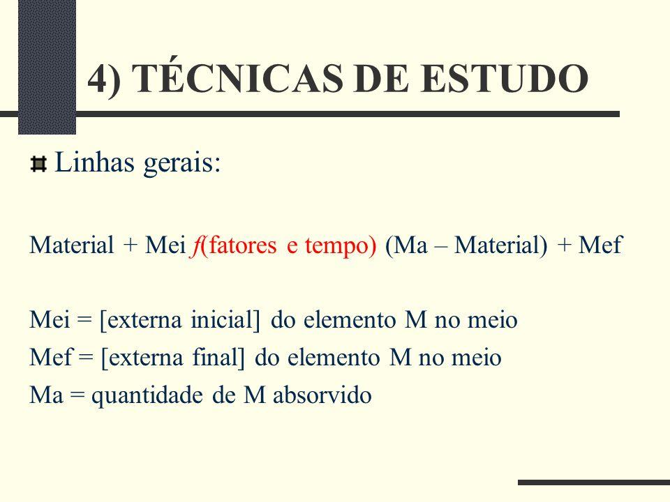 4) TÉCNICAS DE ESTUDO Linhas gerais:
