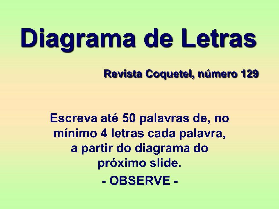 Diagrama de Letras Revista Coquetel, número 129