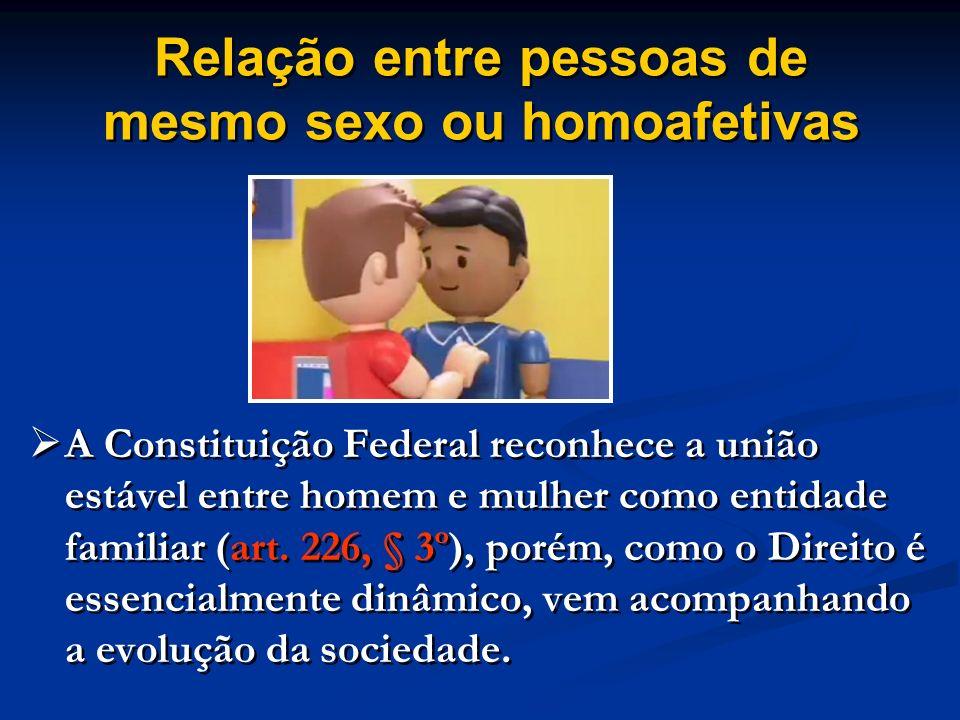 Relação entre pessoas de mesmo sexo ou homoafetivas
