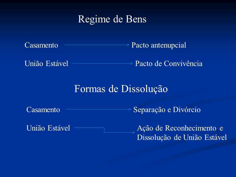Regime de Bens Formas de Dissolução Casamento Pacto antenupcial