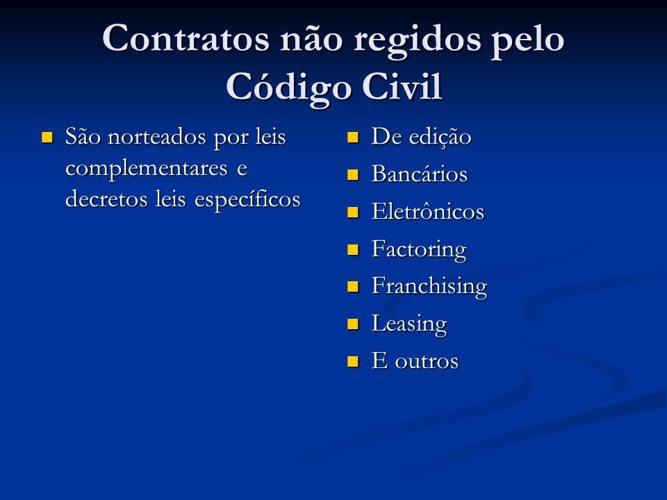 Contratos não regidos pelo Código Civil