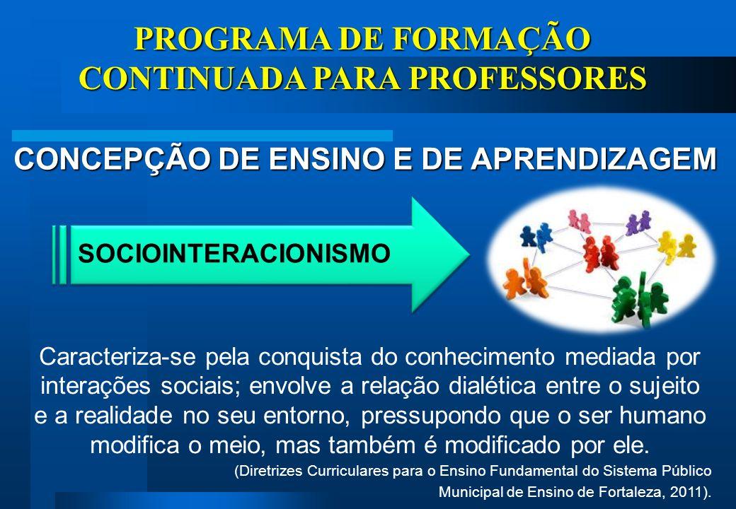 PROGRAMA DE FORMAÇÃO CONTINUADA PARA PROFESSORES