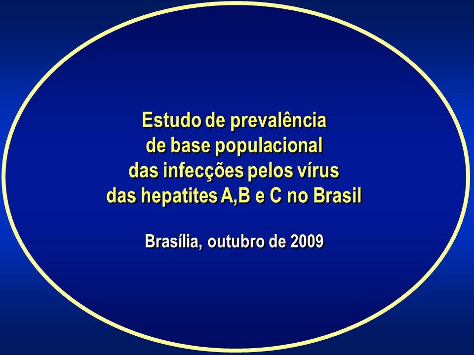 Estudo de prevalência de base populacional das infecções pelos vírus das hepatites A,B e C no Brasil