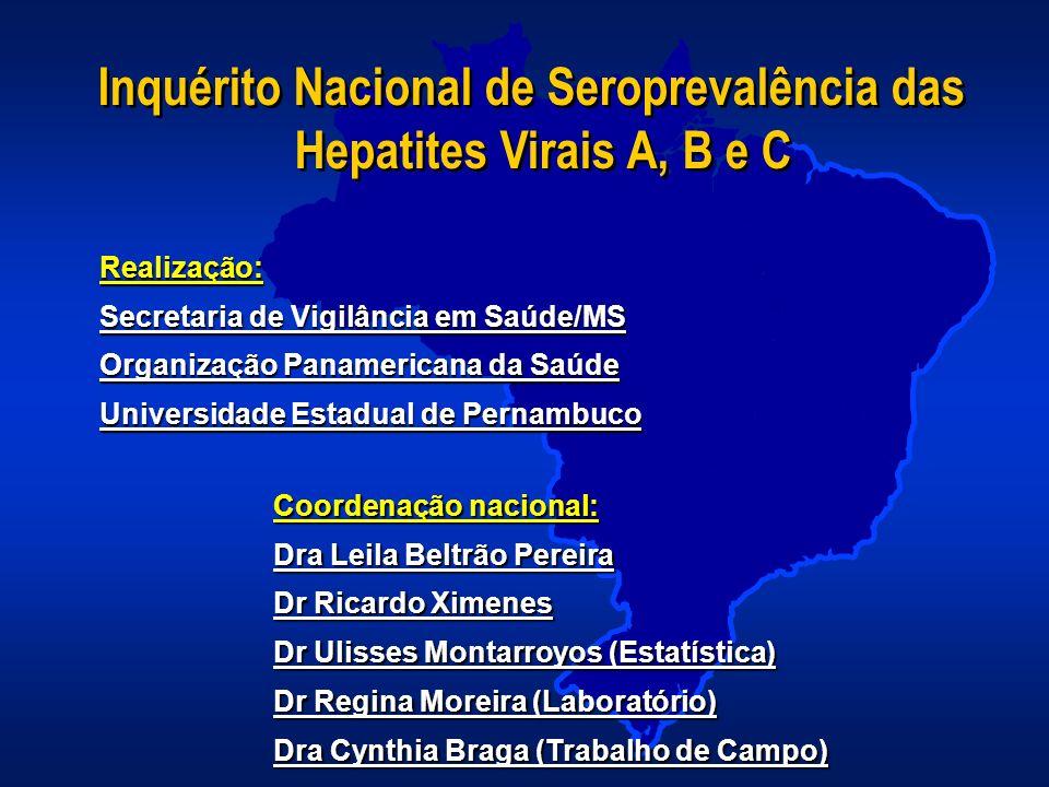 Inquérito Nacional de Seroprevalência das Hepatites Virais A, B e C