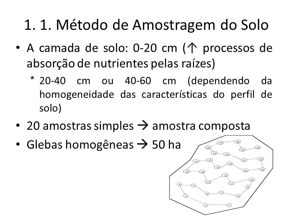 1. 1. Método de Amostragem do Solo