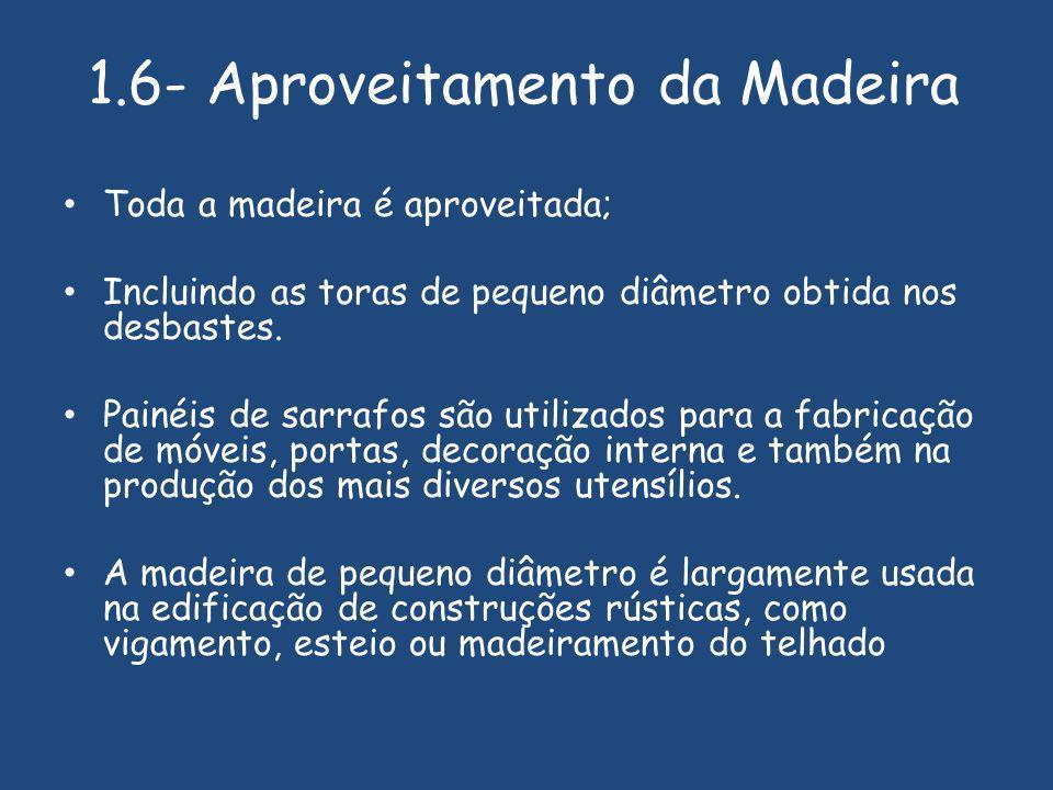 1.6- Aproveitamento da Madeira