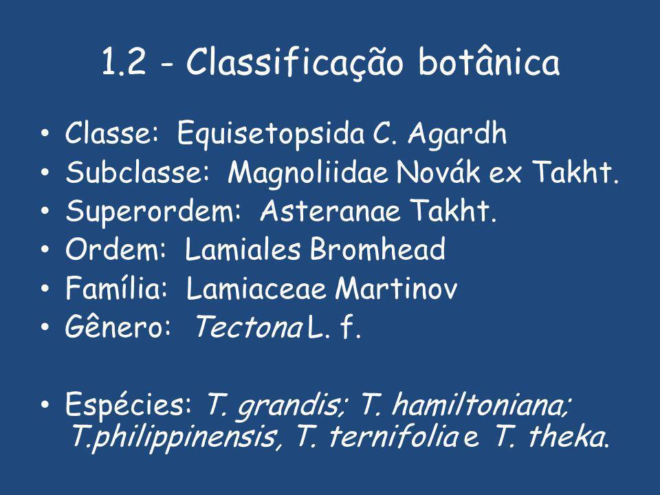 1.2 - Classificação botânica