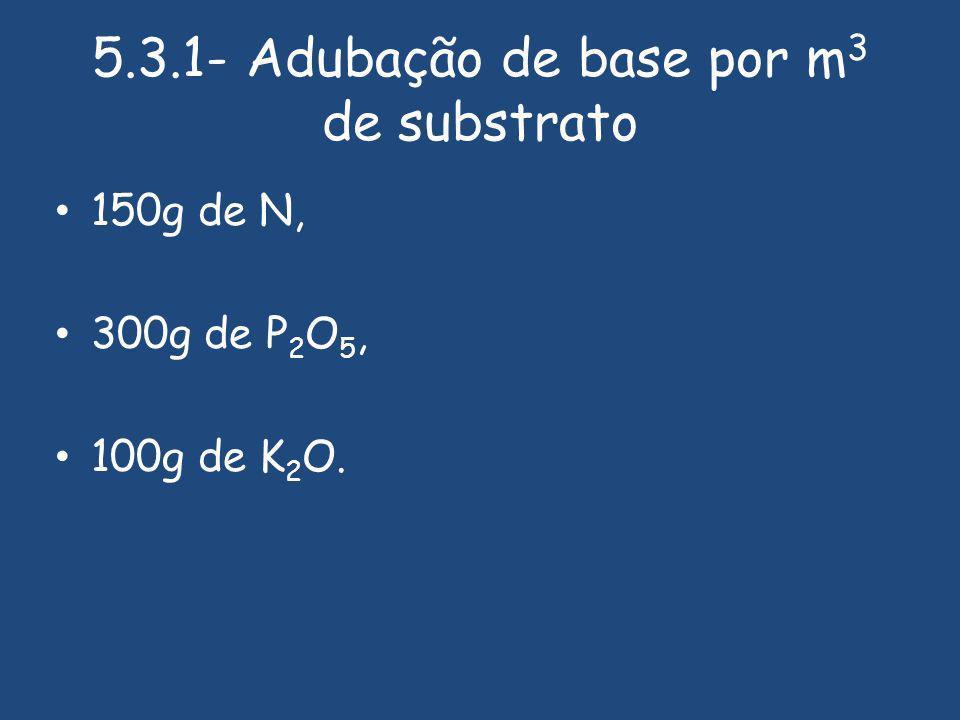 5.3.1- Adubação de base por m3 de substrato