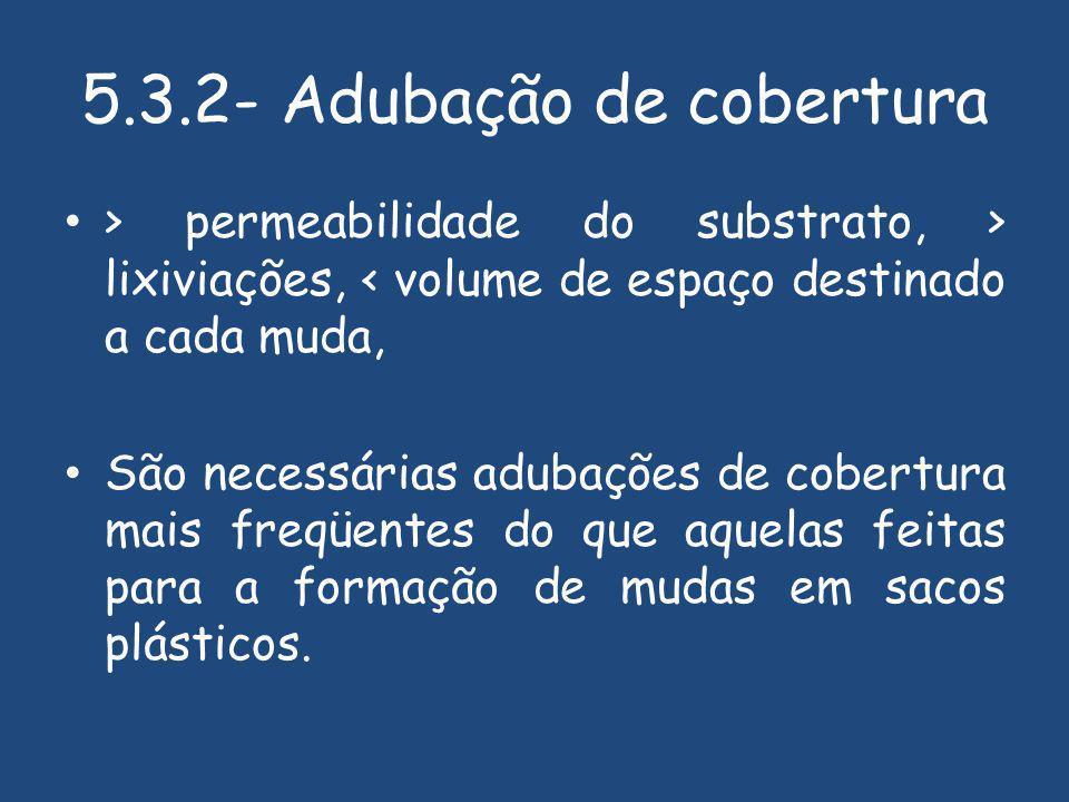 5.3.2- Adubação de cobertura