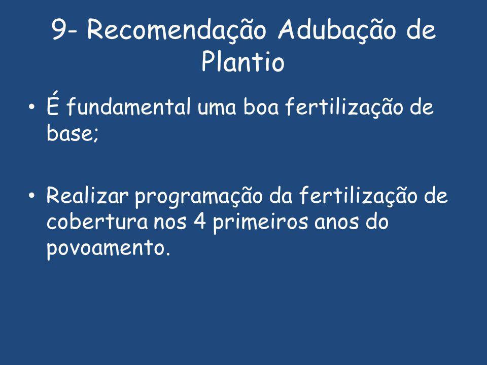 9- Recomendação Adubação de Plantio