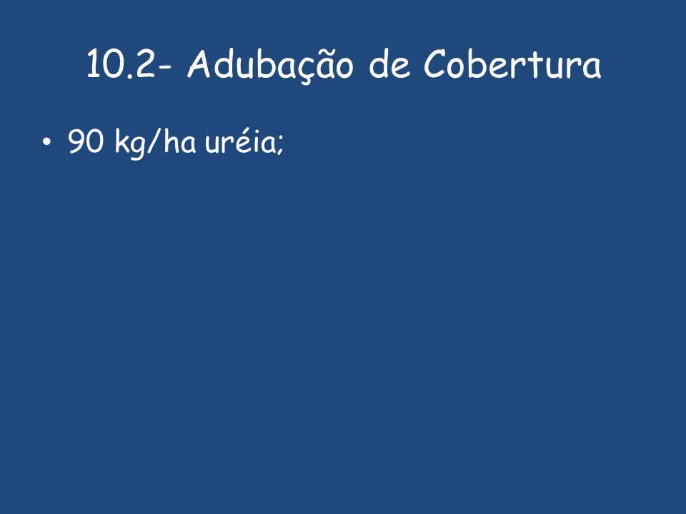 10.2- Adubação de Cobertura