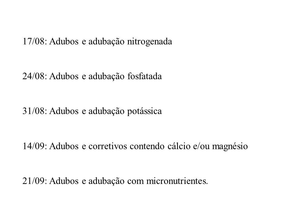 17/08: Adubos e adubação nitrogenada