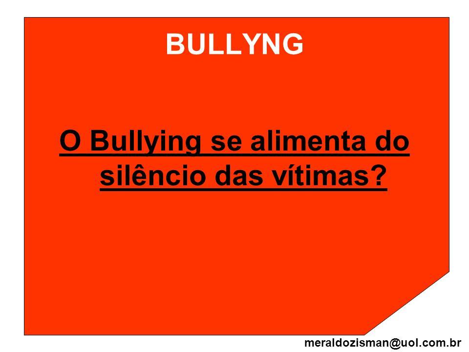 O Bullying se alimenta do silêncio das vítimas