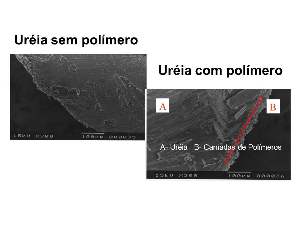 A- Uréia B- Camadas de Polímeros