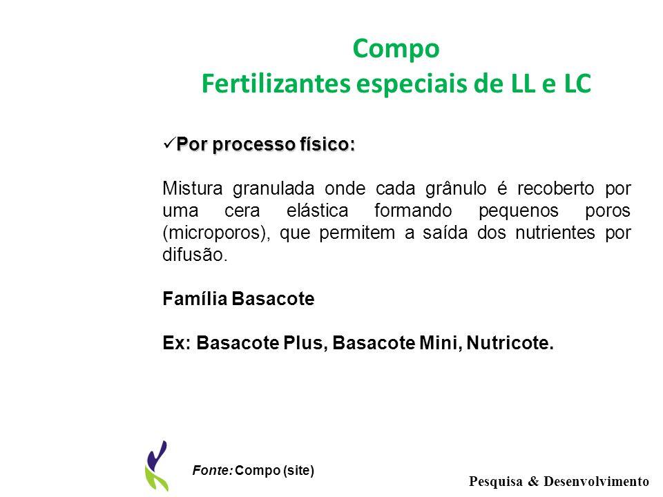 Fertilizantes especiais de LL e LC