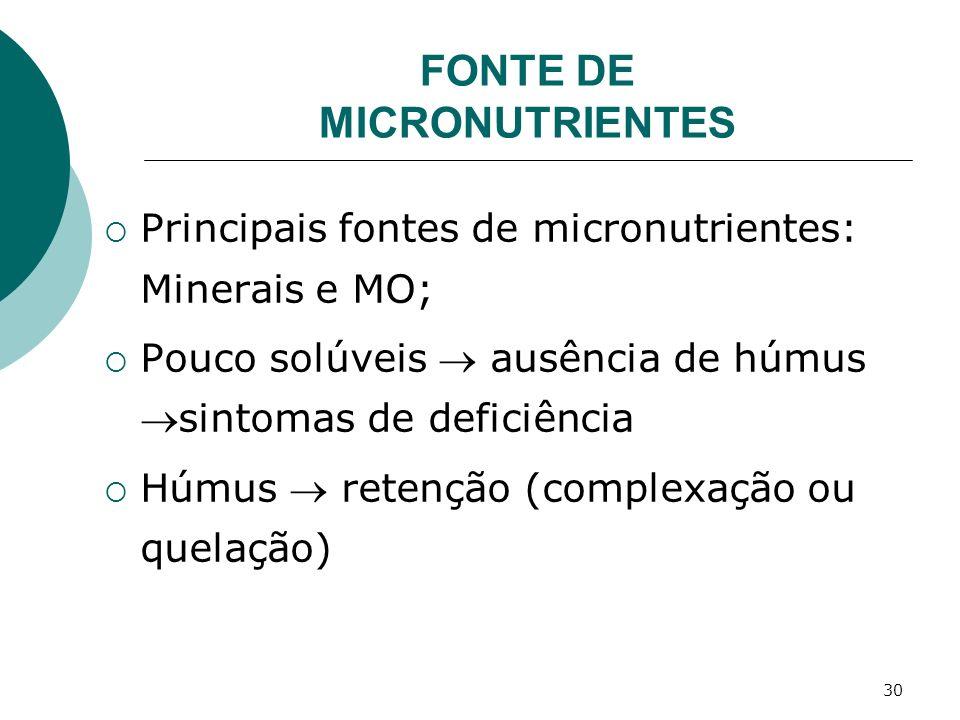 FONTE DE MICRONUTRIENTES
