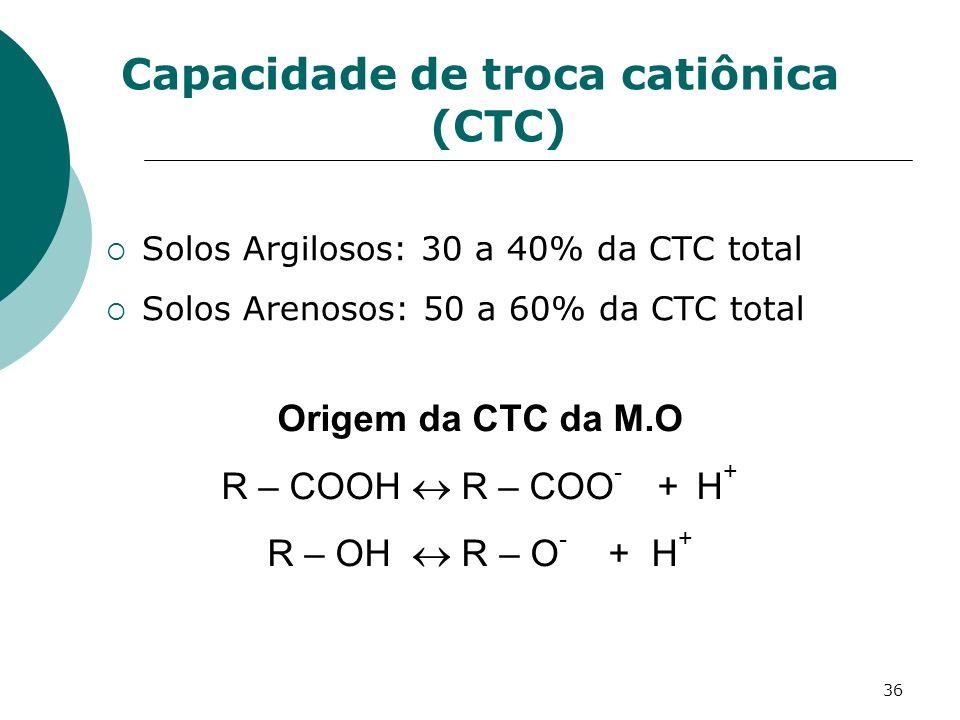 Capacidade de troca catiônica (CTC)