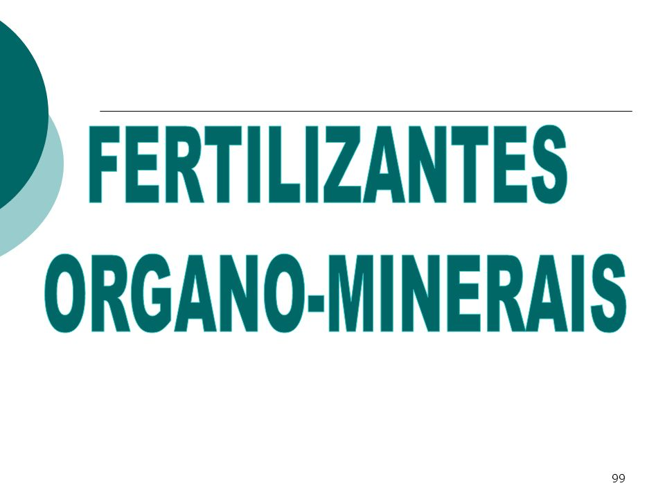 FERTILIZANTES ORGANO-MINERAIS