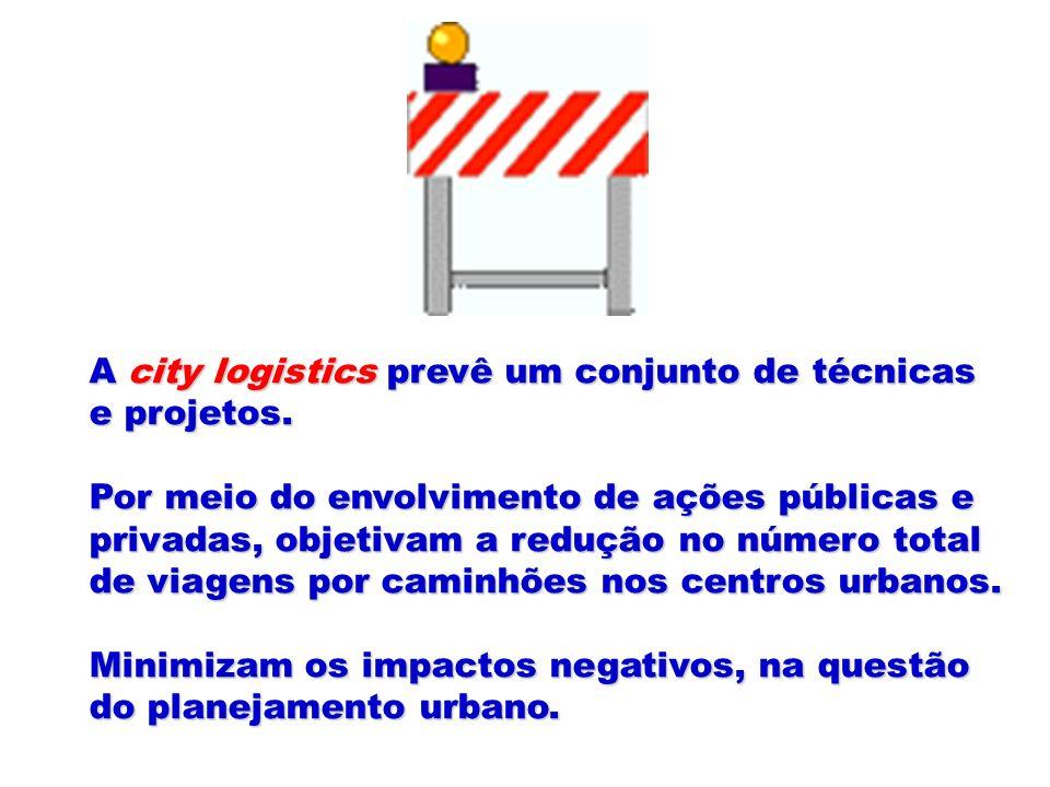A city logistics prevê um conjunto de técnicas