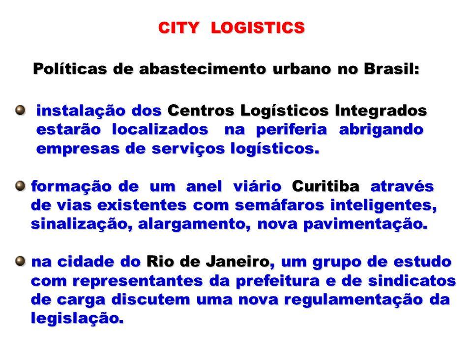 CITY LOGISTICS Políticas de abastecimento urbano no Brasil: instalação dos Centros Logísticos Integrados.