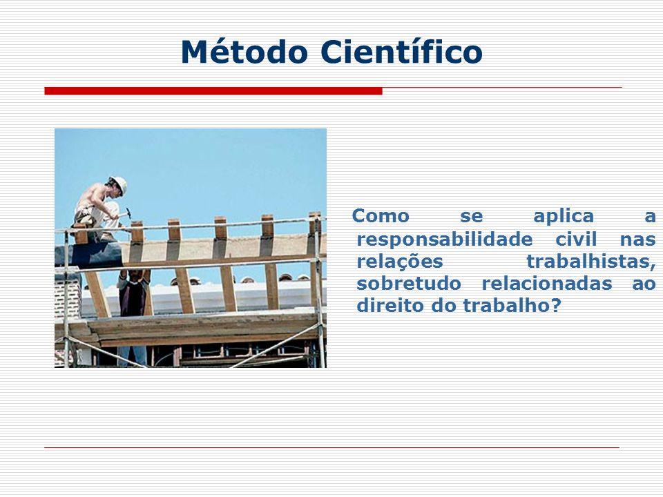 Método Científico Como se aplica a responsabilidade civil nas relações trabalhistas, sobretudo relacionadas ao direito do trabalho