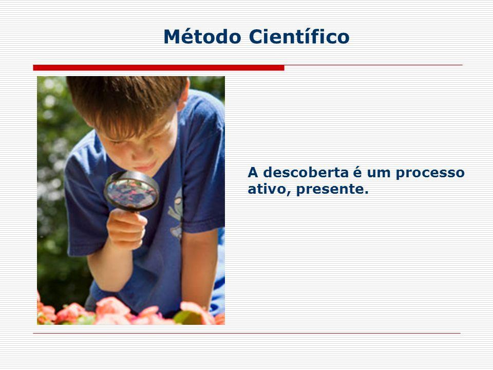Método Científico A descoberta é um processo ativo, presente.