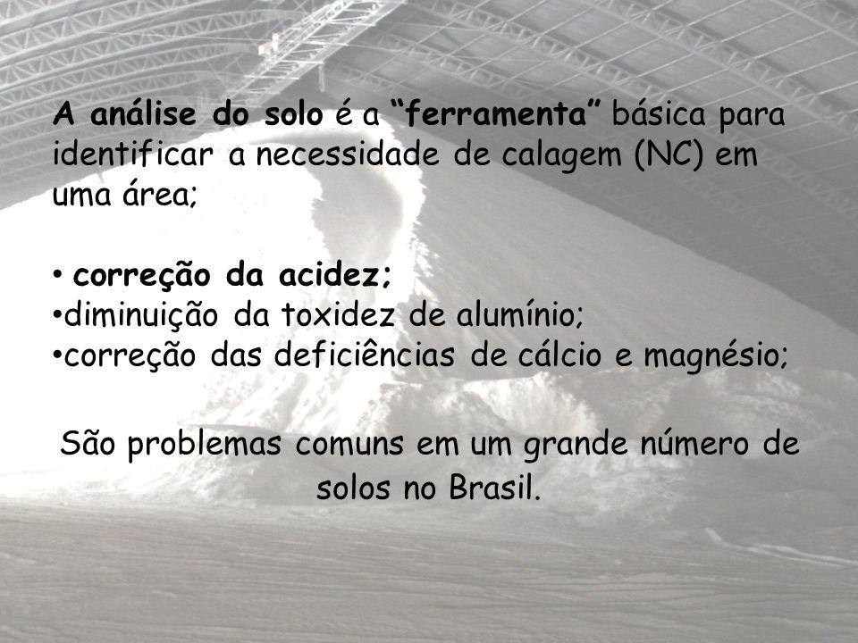 São problemas comuns em um grande número de solos no Brasil.