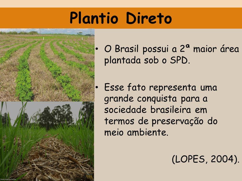Plantio Direto O Brasil possui a 2ª maior área plantada sob o SPD.
