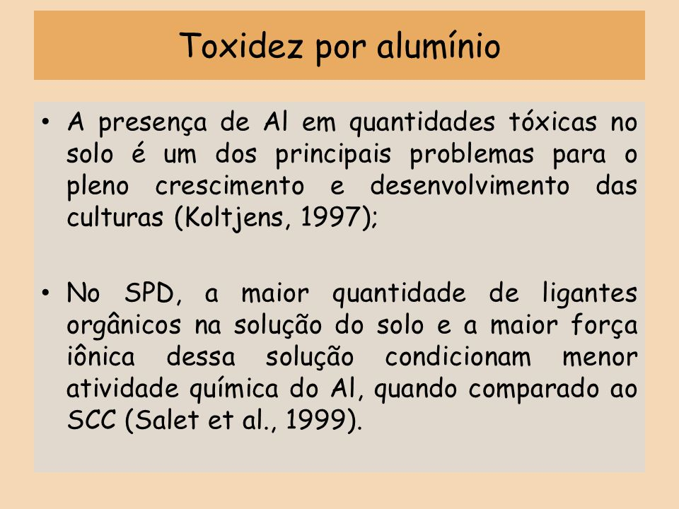 Toxidez por alumínio