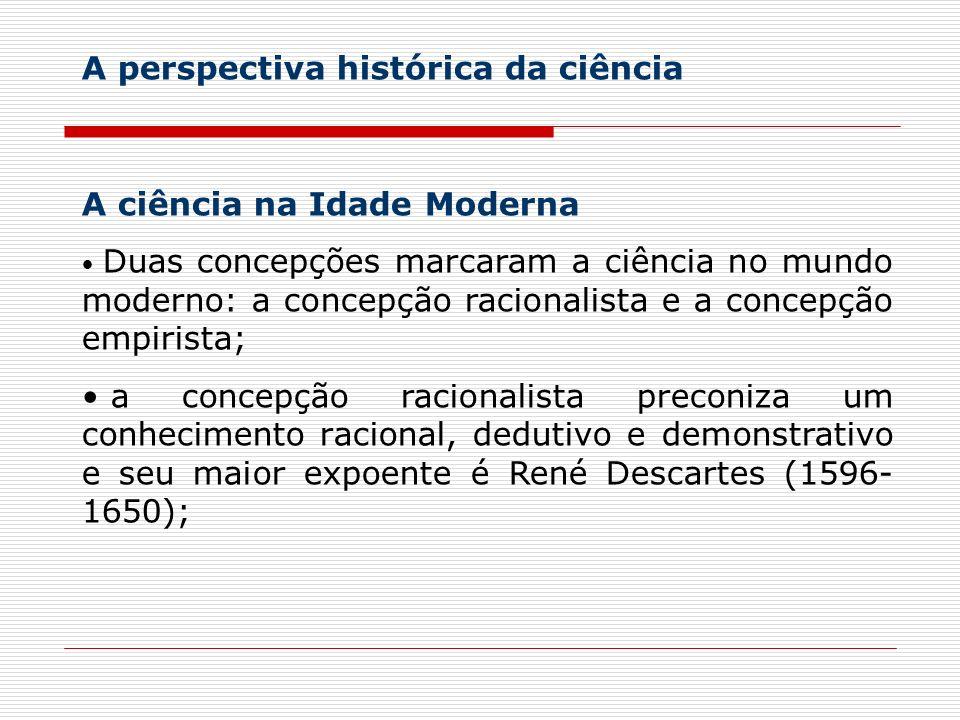A perspectiva histórica da ciência