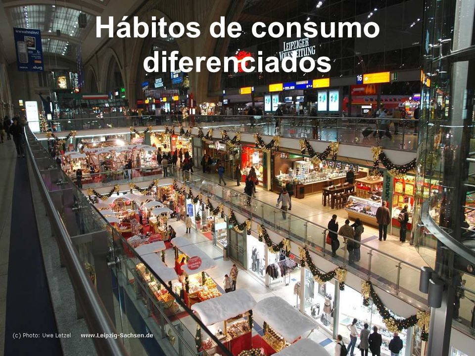 Hábitos de consumo diferenciados