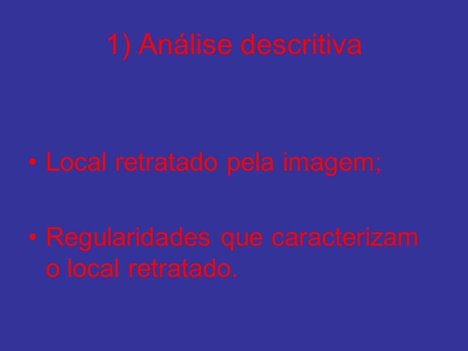 1) Análise descritiva Local retratado pela imagem;