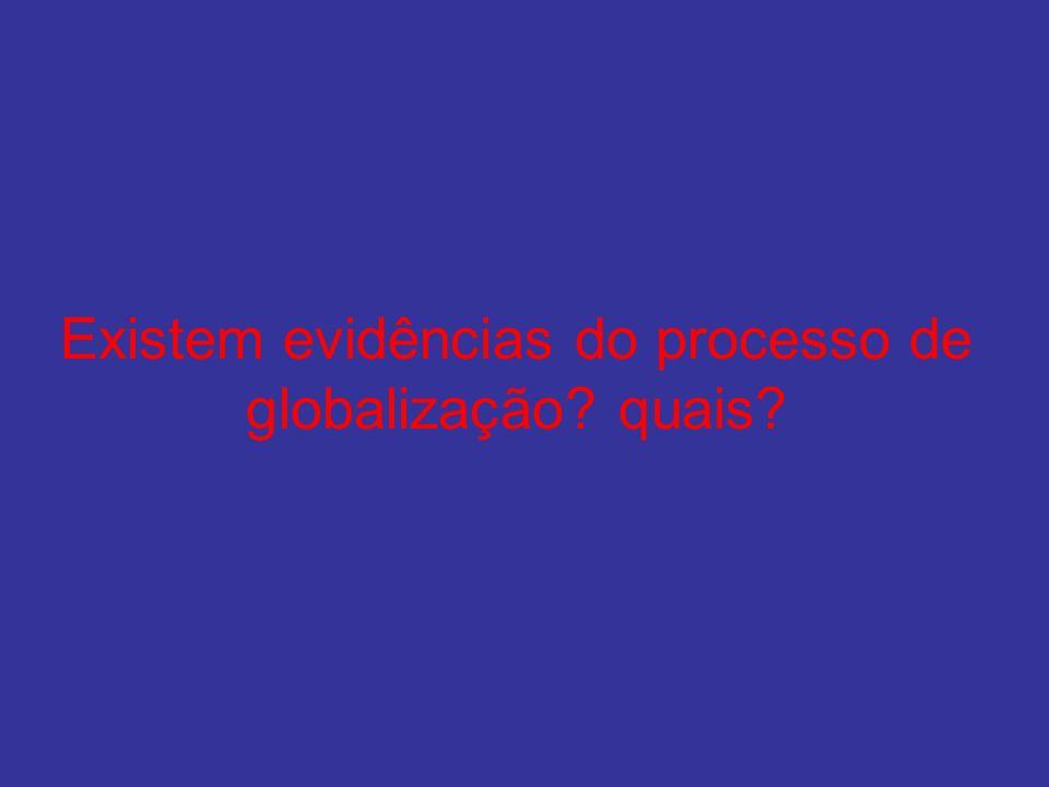 Existem evidências do processo de globalização quais