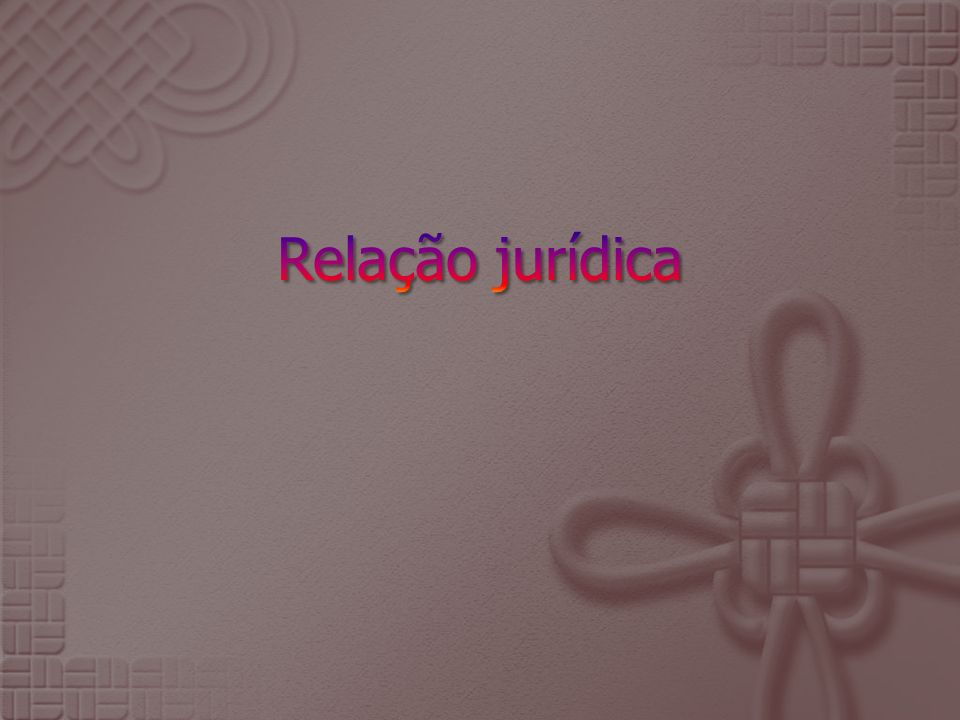 Relação jurídica