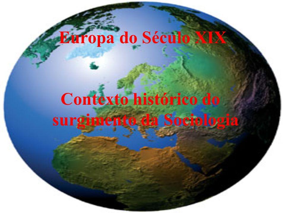 Contexto histórico do surgimento da Sociologia