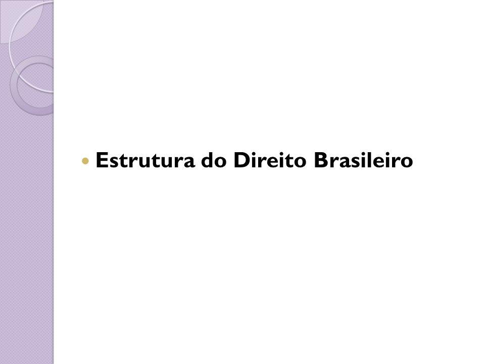 Estrutura do Direito Brasileiro