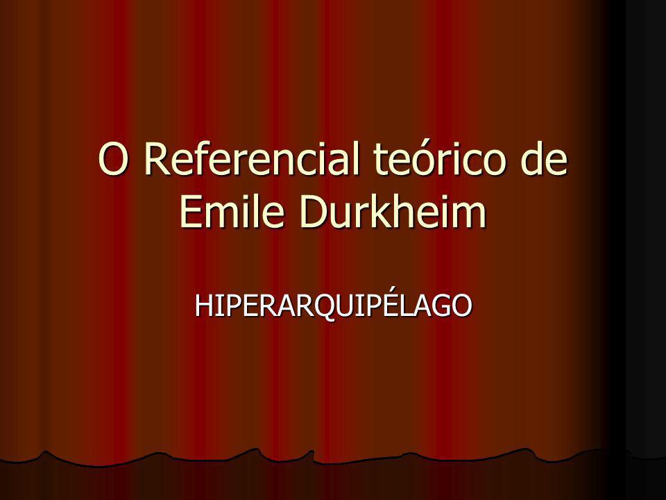 O Referencial teórico de Emile Durkheim
