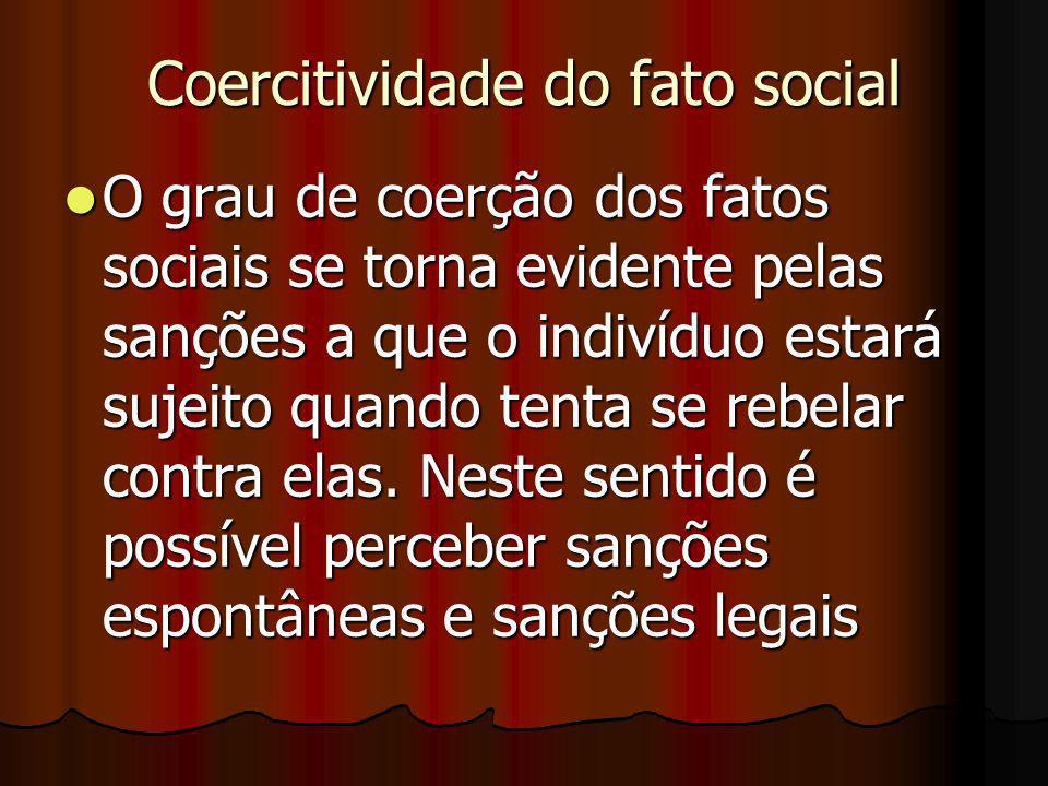 Coercitividade do fato social
