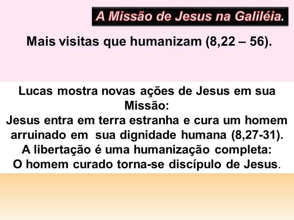 Mais visitas que humanizam (8,22 – 56). A Missão de Jesus na Galiléia.