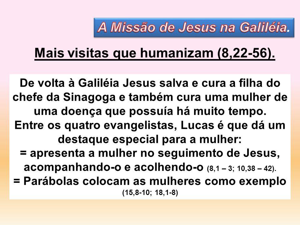 A Missão de Jesus na Galiléia. Mais visitas que humanizam (8,22-56).