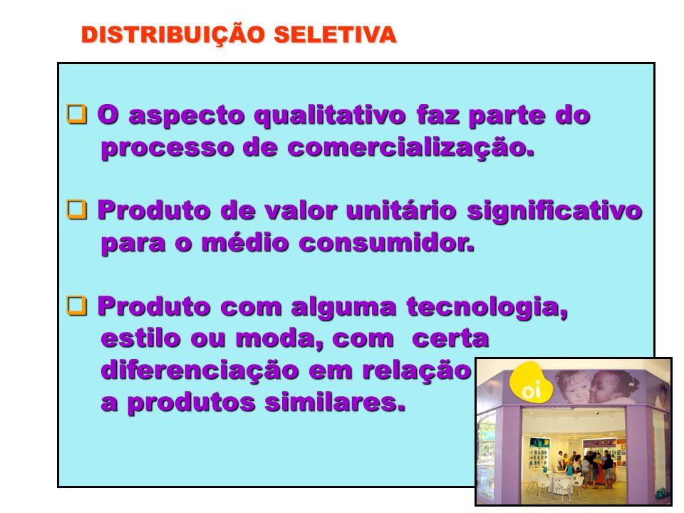 O aspecto qualitativo faz parte do processo de comercialização.