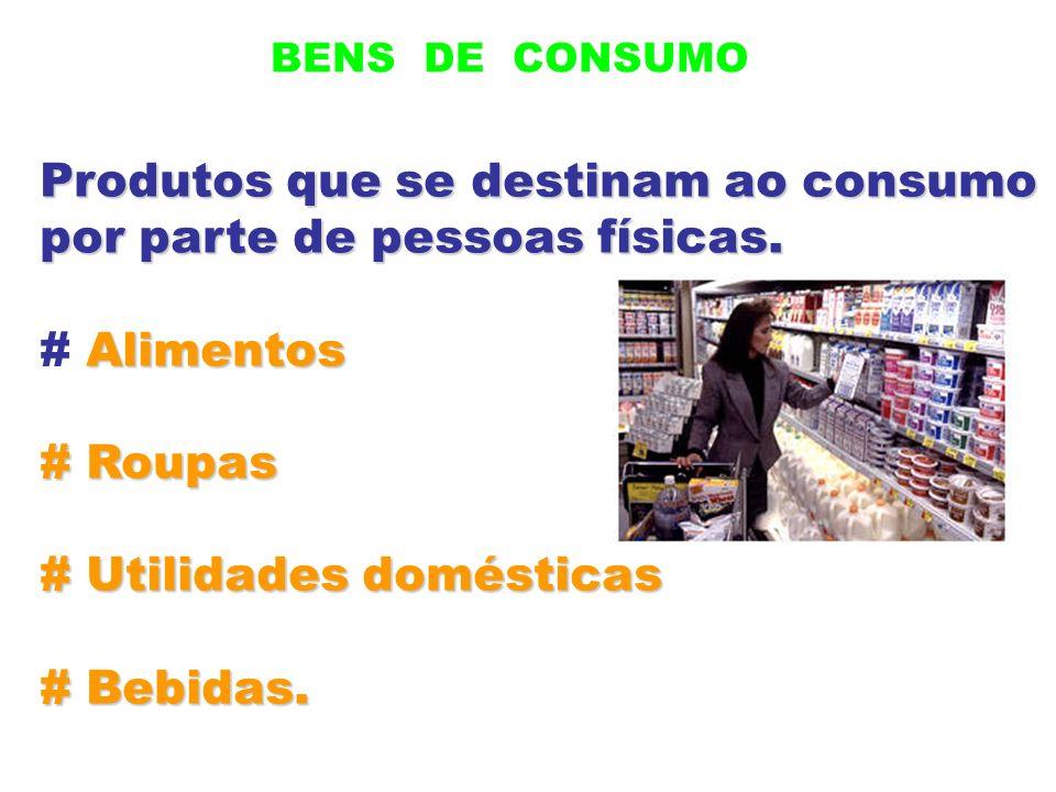 Produtos que se destinam ao consumo por parte de pessoas físicas.