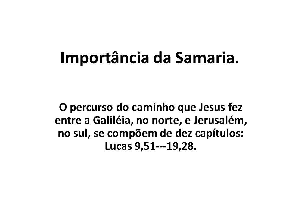 Importância da Samaria.