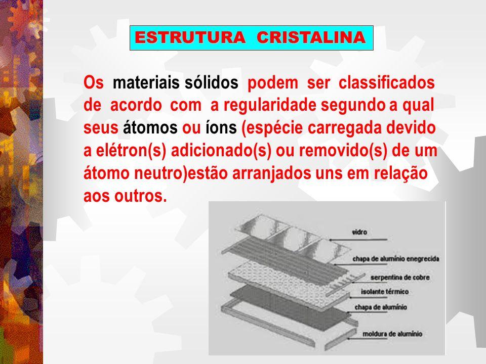 Os materiais sólidos podem ser classificados